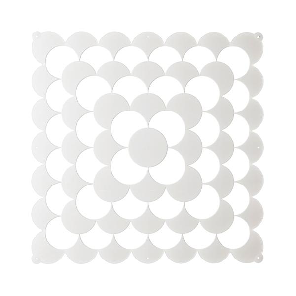 VedoNonVedo Optic élément décoratif pour meubler et diviser les espaces - blanc