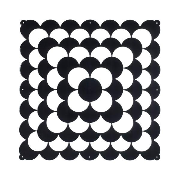 VedoNonVedo Optic élément décoratif pour meubler et diviser les espaces - noir