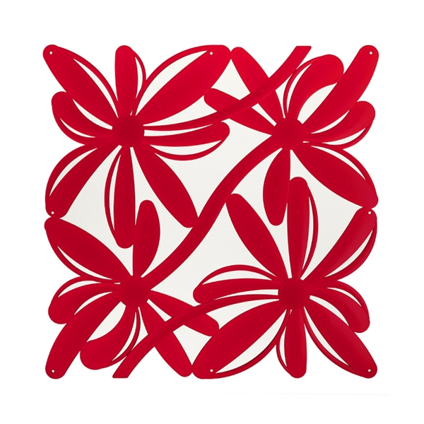 VedoNonVedo Positano decorative element for furnishing and dividing rooms - transparent red