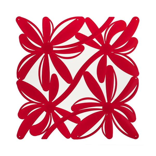 VedoNonVedo Positano elemento decorativo per arredare e dividere gli spazi - rosso trasparente