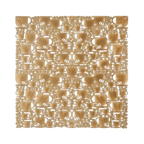 VedoNonVedo O' Caffé elemento decorativo per arredare e dividere gli spazi - trasparente dorato