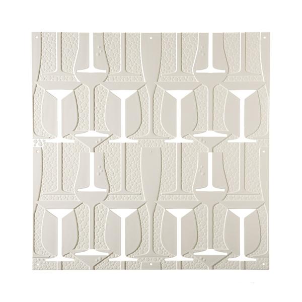 VedoNonVedo Perlage dekoratives Element zur Einrichtung und Teilung von Räumen - weiss