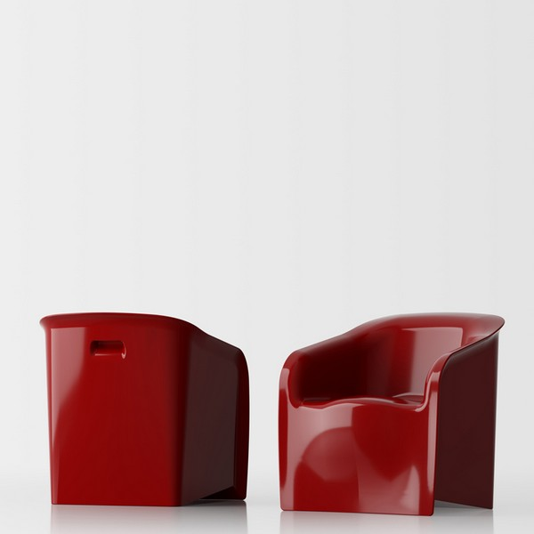 Lady red glossy lacquer