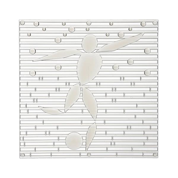 VedoNonVedo Ale o-o élément décoratif pour meubler et diviser les espaces - transparent