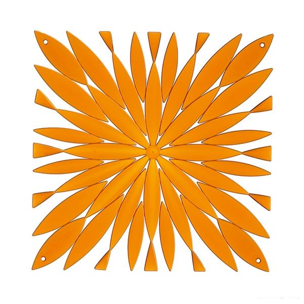 VedoNonVedo Daisy elemento decorativo per arredare e dividere gli spazi - arancione trasparente