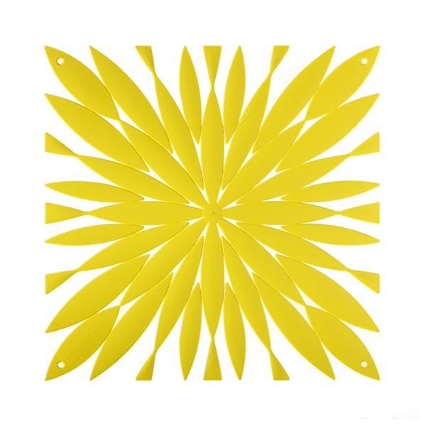 VedoNonVedo Daisy élément décoratif pour meubler et diviser les espaces - jaune