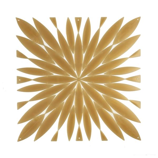 VedoNonVedo Daisy grande elemento decorativo per arredare e dividere gli spazi - trasparente oro