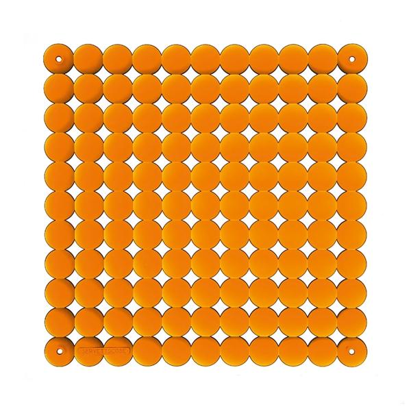 VedoNonVedo Timesquare elemento decorativo per arredare e dividere gli spazi - arancione trasparente