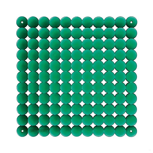 VedoNonVedo Timesquare élément décoratif pour meubler et diviser les espaces - Vert transparent