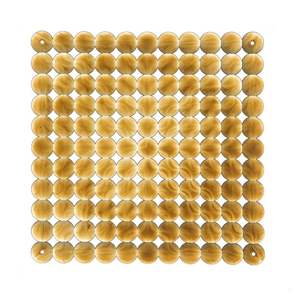 VedoNonVedo Timesquare dekoratives Element zur Einrichtung und Teilung von Räumen - goldig transpare