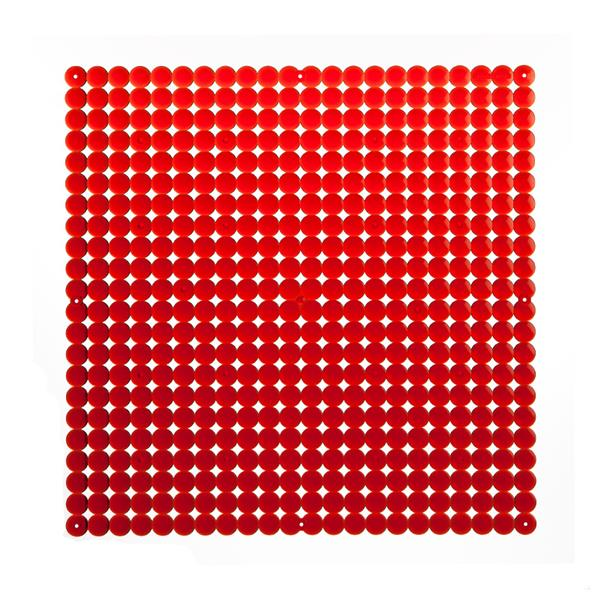 VedoNonVedo Timesquare big decorative element for furnishing and dividing rooms - transparent red