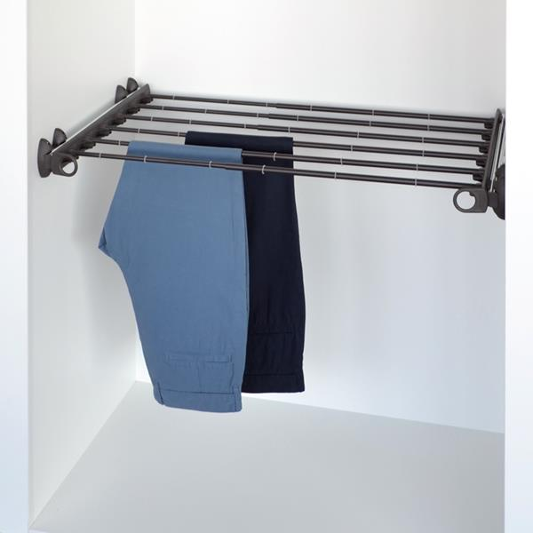 Pull-out width adjustable trousers rack brown - brown