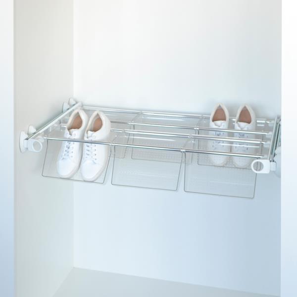 Plus - Portascarpe 6V - bianco - alluminio lucido - policarbonato trasparente