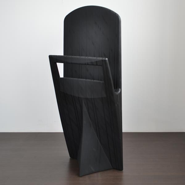 Eccopanta Schlafzimmer-Kleiderständer mit Nadelstreif-Optik  - schwarz