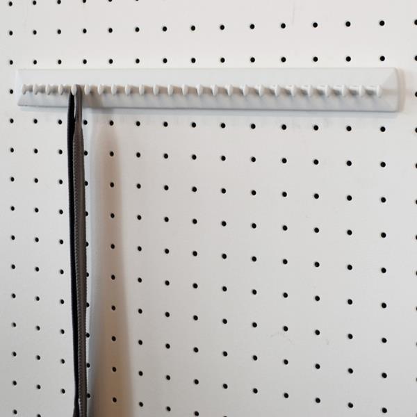Takataka - Krawattenhalter fix - 25 Haken  - weiss