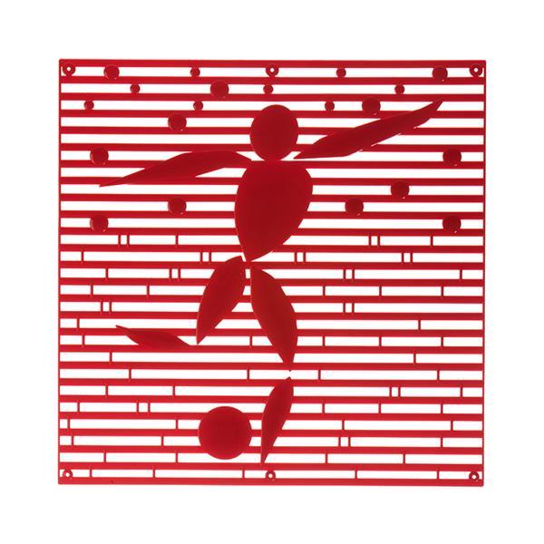 VedoNonVedo Alé o-o elemento decorativo per arredare e dividere gli spazi - rosso