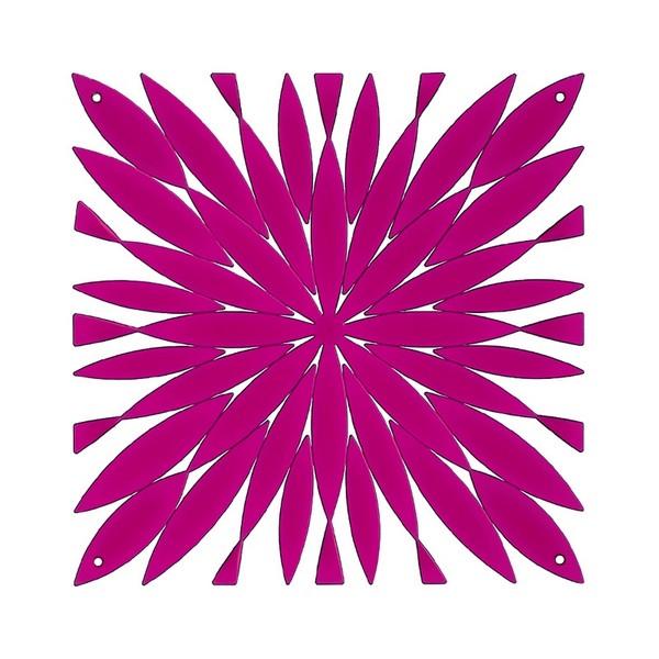 VedoNonVedo Daisy élément décoratif pour meubler et diviser les espaces - Fuchsia transparent