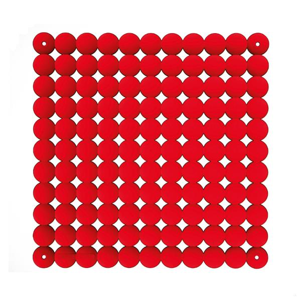 VedoNonVedo Timesquare decorative element for furnishing and dividing rooms - red