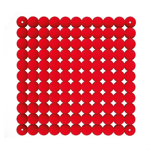 VedoNonVedo Timesquare élément décoratif pour meubler et diviser les espaces - Rouge