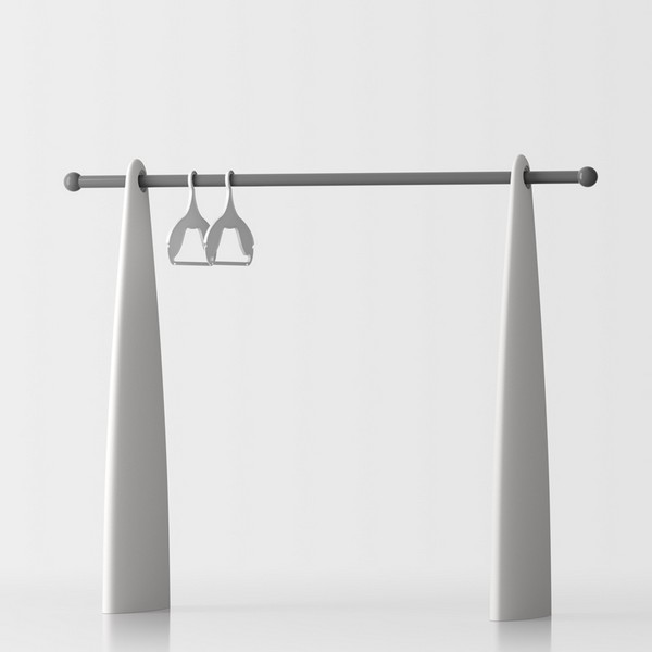 Atelier free-standing coat stand - white