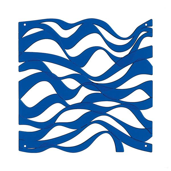VedoNonVedo Onda decorative element for furnishing and dividing rooms - transparent blue
