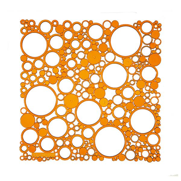 VedoNonVedo Bollicine decorative element for furnishing and dividing rooms - transparent orange