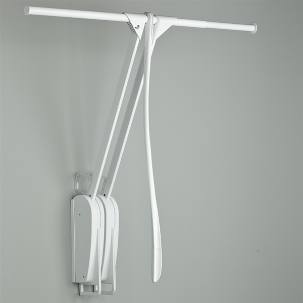 Otto Closet Pro Wall-mounted pull down rail - white-white