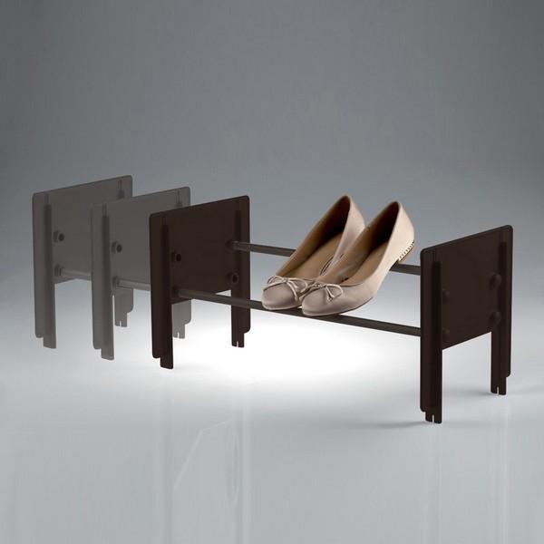 Cip porte-chaussures superposable marron-marron