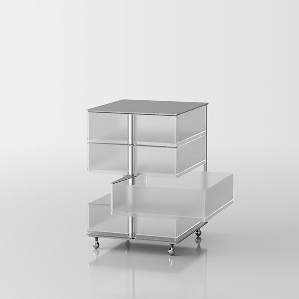 Itaca 4 Swivel-opening chest of drawers