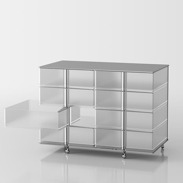 Itaca 4+4  Schublade mit Schwenköffnung