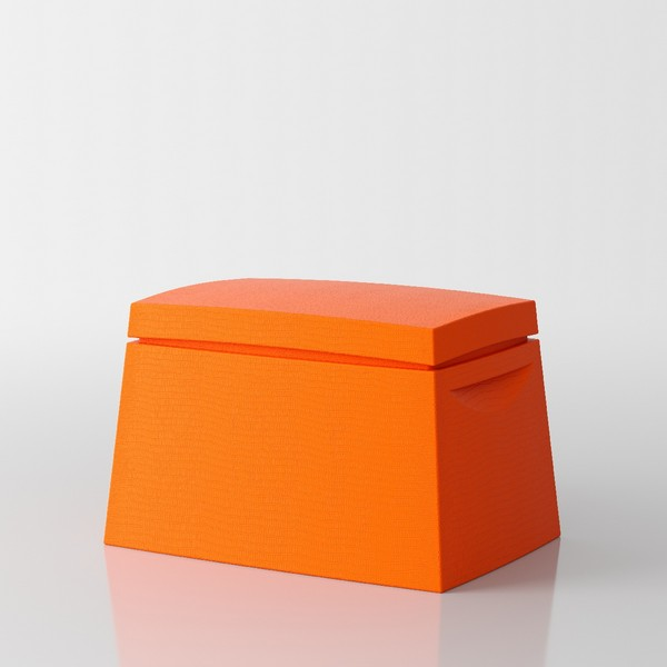 Big Box Multi-purpose trunk by Servetto - orange