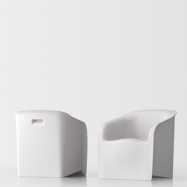 Lady design armchair - white