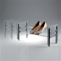 Cip stackable shoe rack grey - satin aluminium