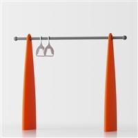 Atelier free-standing coat stand - orange