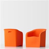 Lady design armchair - orange
