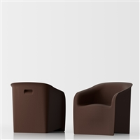 Lady design armchair - brown