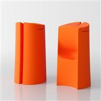 Kalispera designer high stool - orange