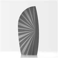 Amerigo designer room divider - grey