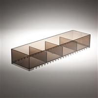 Jolly portaoggetti dal design moderno - brown fumè