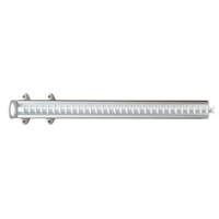 Portacravatte estraibile - 32 ganci - bianco-alluminio lucido