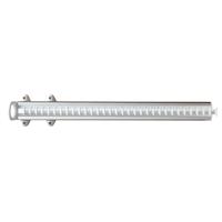Pull-out tie rack - 32 hooks - white-bright aluminium