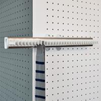 Pull-out tie rack - 32 hooks - white-bright aluminium