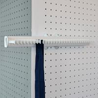 Pull-out tie rack - 32 hooks - white-white