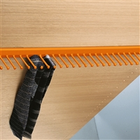 Takataka - fixed tie rack - 25 hooks - orange