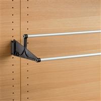 Tac - extendable wall-mounted shoe rack - black-satin aluminium
