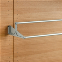 Tac - extendable wall-mounted shoe rack - grey-satin aluminium