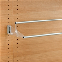 Tac - extendable wall-mounted shoe rack - transparent-satin aluminium