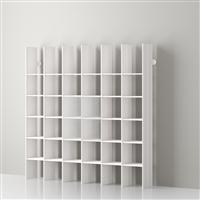 Mas 36 Servetto modular aluminium bookcase - white aluminium-white opale