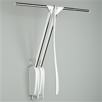 Otto Closet Pro Wall-mounted pull down rail - white-nickel plated