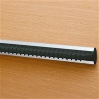 Portacravatte fisso - 28 ganci - nero-alluminio satinato